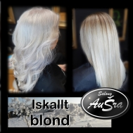 Blonda nyanser i silver/platina.