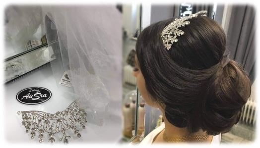 Vackert och stilfullt med glittrande tiara till brölloppet!
